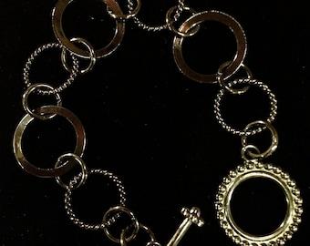 Black Pewter Gunmetal Chain Bracelet
