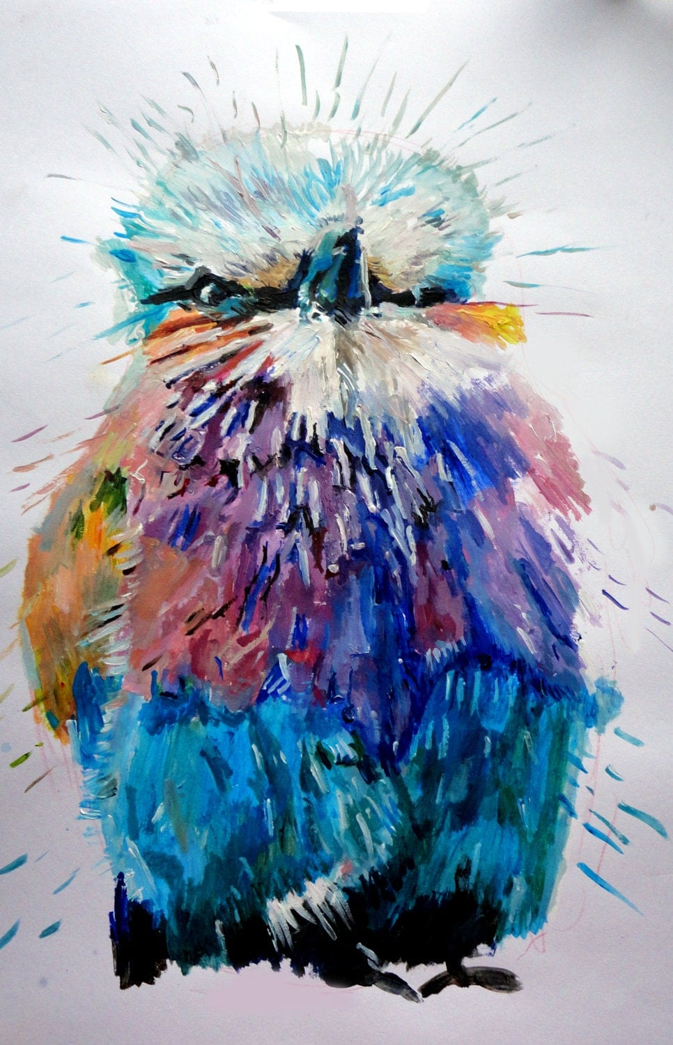 colourful Abstract Bird Limited Edition Fine Art Print