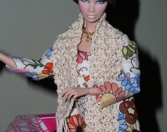 Fashion Doll Crocheted Hat and Scarf
