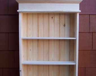 Unfinished Cottage Style Wall Cabinet