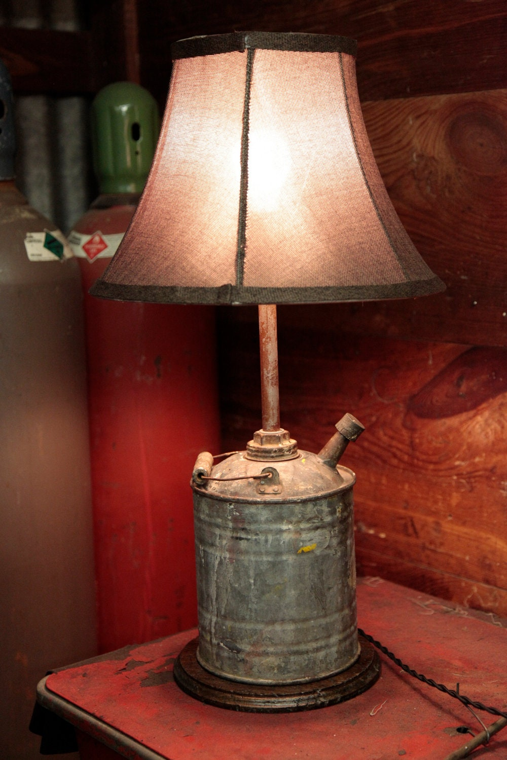 Handmade upcycled gas can lamp - Hand made lamps ...