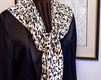Scarf - Brown & Cocoa Animal Print