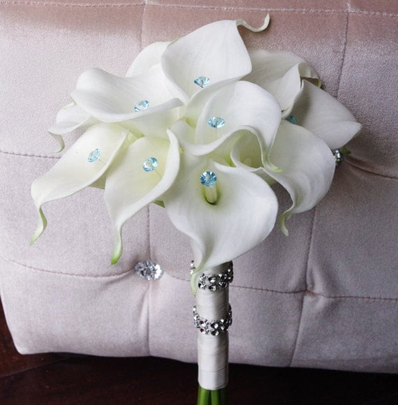 fake calla lily wedding bouquets silk wedding bouquet with calla lilies white 3976