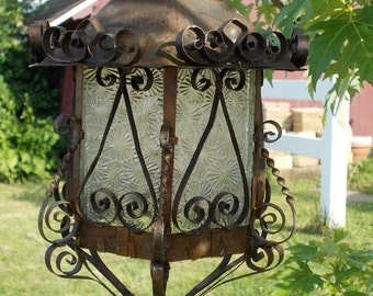 Vintage-1955 Copper Light Fixture Treasure/ at Ancient of Daze