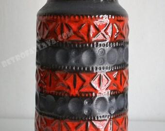 Retro West German Bay keramik vase - Bodo Mans 603-25