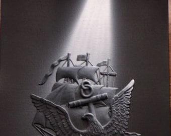 Spotlight Art - Navy Logo