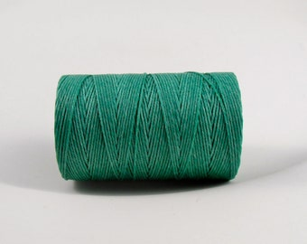 Jade Green Irish waxed linen cord 4ply (10 yards) - irish waxed linen cord, irish waxed linen thread sage irish linen, uk irish linen cord