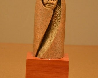 One-Of-A-Kind Wood Carved Figure