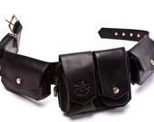 Leather Hip Bag for Men, Distressed Leather Belt Bag - The Voyager