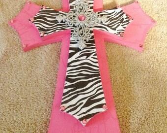 Pink Zebra Cross