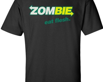 Zombie Eat Flesh 100% Cotton T-shirt