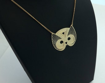 "Necklace ""TOTEM OWL"" gold"