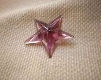 LG Vintage  Purple Star Button