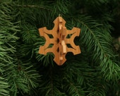 Snowflake 3-D Christmas Ornament - White Christmas, Christmas Snow, Winter Snow, Winter Wonderland, Let it Snow
