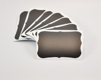 "CHALK BOARD Peel and Stick Labels 2.5"" x 3.5"" Set of Eight"