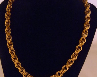 "18"" Double Spiral Brass Necklace and Bracelet"
