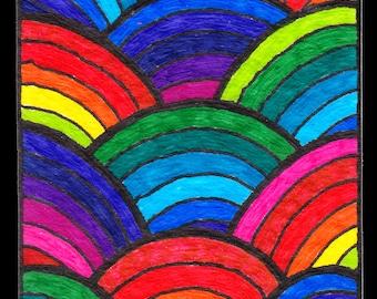 Rainbow ACEO