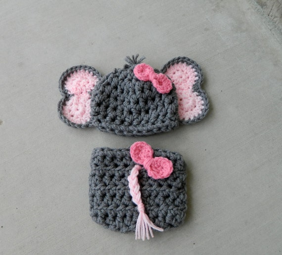 Handmade crochet Elephant Hat Elephant outfit by ...