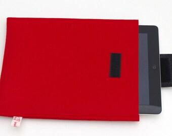 Red Felt iPad Sleeve, Red iPad Cover, Felt iPad Case