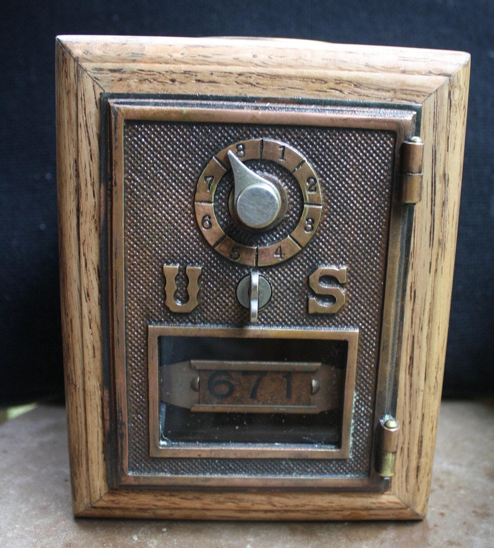 1906 U S Post Office Lock Box Door Coin Bank