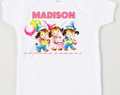 Personalized Birthday Shirt - Retro Bear Party Tee - Girl Birthday Shirt - Toddler Girl Shirt - Custom Size Vintage Tshirt Birthday Tank