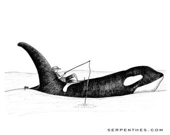 DAN and ShooMoo // 8x10 Fishing Fine Art Print