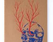 Veins Skull - One of a kind Moleskine Plain Journal (brown)