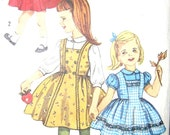 Vintage 1950s Girls Blouse and Jumper Size 6 Simplicity 3603 Sewing Pattern 50s Dress