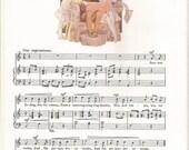 Books in Winter-Songs With Music-Vintage Art, Music Book Plate, Print-Sheet Music-Garden of Verses-R L Stevenson-Margaret Tarrant-1915