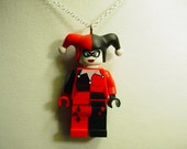 Classic Harley Quinn Necklace or Ornament