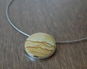 READY to SHIP: Unique Picture Jasper Stone Pendant - OOAK Gemstone Necklace - Handmade Natural Stone Jewelry