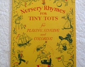 Nursery Rhymes for Tiny Tots, Playing Singing Coloring, Home School Teaching Aid Activity Book, Musical Coloring Book