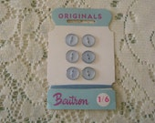 6 small vintage buttons on card. For baby boy.