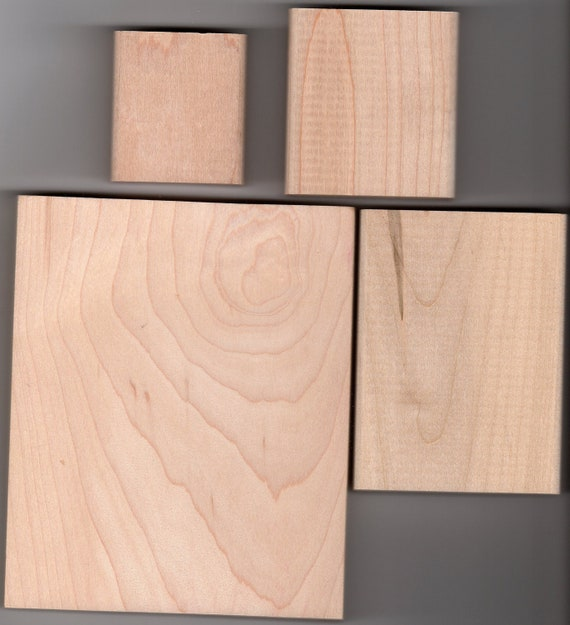 Maple wood blocks for rubber stamps brand new lot by