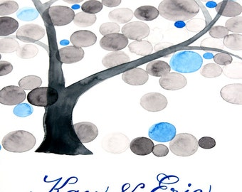 Custom Wedding Guest Book painting - Personalized guestbook - Birthday Tree Bridal shower Family reunion