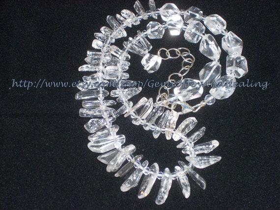 Quartz Crystal Ice Necklace