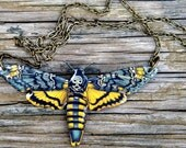 Moth Necklace (Yellow) - As seen in Country Living Magazine