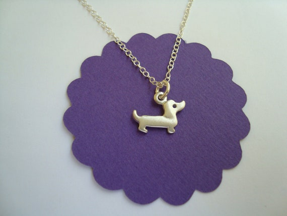 Dachshund Necklace Dog Pendant Doxie Necklace Sterling Silver Dog lovers Pet Necklace Weenie Wiener Dog