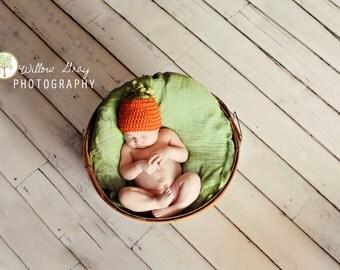 Li'l Pumpkin Hat / baby hat / fall baby hat / crochet baby hat