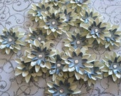 Set of (6) Silver Snowflake Paper Flowers