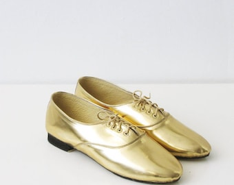 Pony oxford faux leather shoes (Handmade to order)