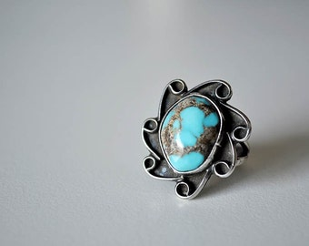 Native American Boulder Turquoise Ring