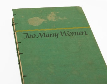 1947 TOO MANY WOMEN Vintage Black Book Notebook