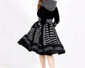 Urban Chic - Custom Gothic Black Sweater Coat