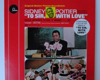 """Sidney Poitier """"To Sir, With Love"""" Vinyl Soundtrack (1967) Lulu - Very Good Condition"""