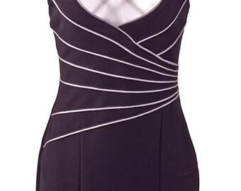 Black & White Strappy Dress