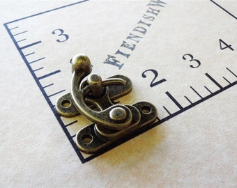 Steampunk Metal Swing Clasp Antique Brass 1 1/2""