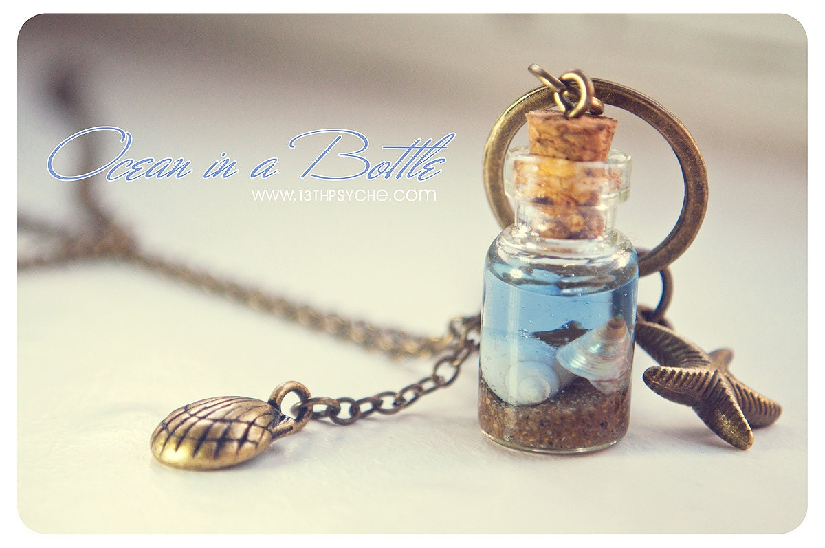 Drink Me 2ml Glass Bottle Necklace - Alice in Wonderland Glass Vial Pendant  - Eat Me
