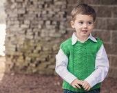 KNITTING PATTERN for Argyle boys and girls vest