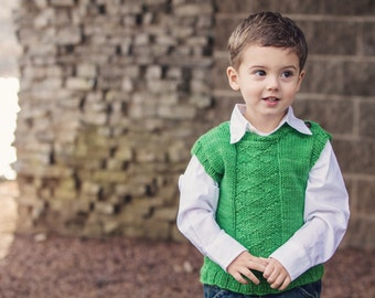 KNITTING PATTERN for Argyle boys and girls vest